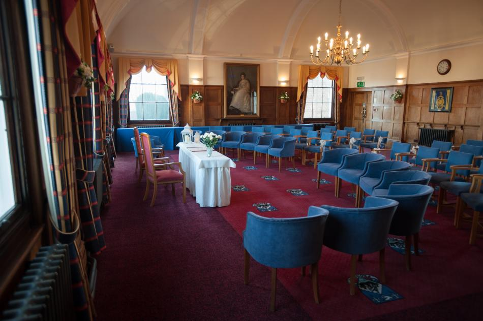 New Millennium Chamber Room's wedding set up