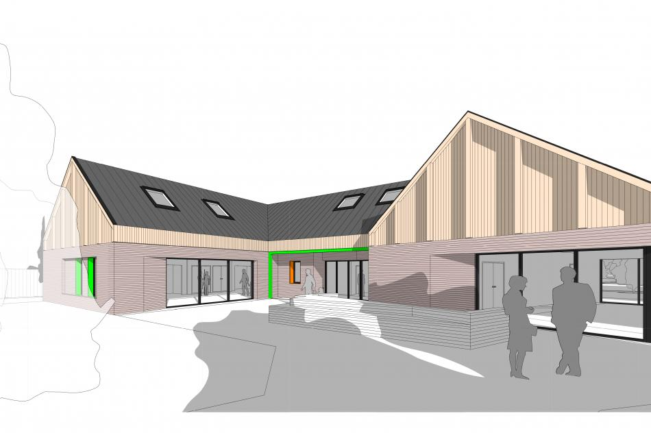 Keystone artist's impression of the building frontage
