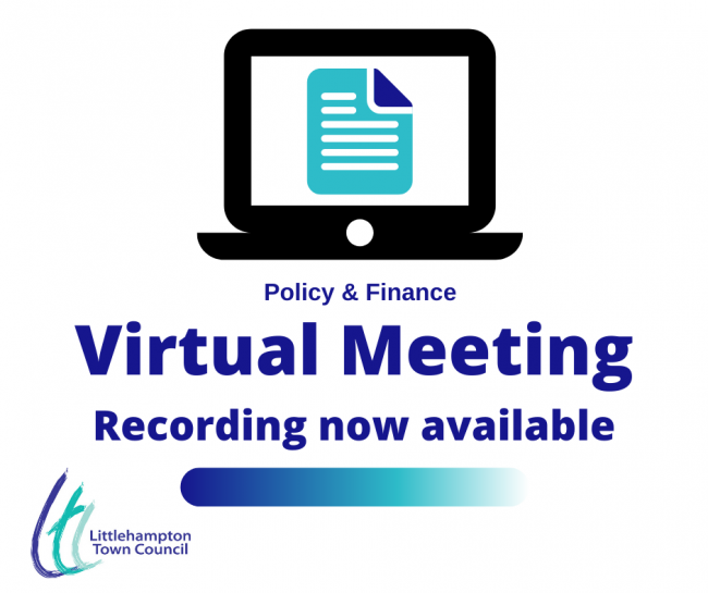 Virtual meeting policy and Finance Recording Available