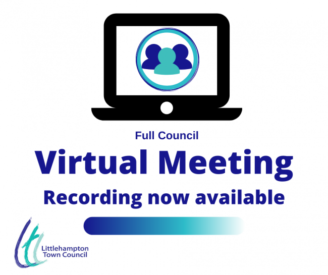 Virtual committee recording available visual for Full Council