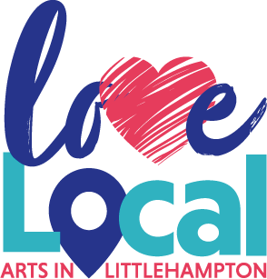 Love Local Arts in Littlehampton logo.