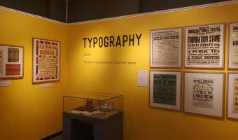 Museum typography exhibition