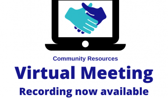 Virtual meeting Community Resources recording available