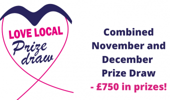 Love Local Prize Draw Logo and details for the December draw