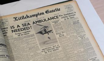 Museum Documentation project - picture of an old newspaper